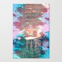 Lunar Arboretum Canvas Print