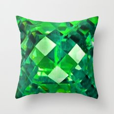 Emerald City May Emerald Birthstone Design Throw Pillow