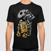 Daft Droids Mens Fitted Tee Tri-Black SMALL
