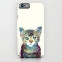 cat iPhone & iPod Cases featuring Cat // Aware by Amy Hamilton