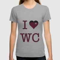 I Heart Wesley Crusher Womens Fitted Tee Athletic Grey SMALL