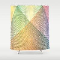 Gradient Strings Shower Curtain