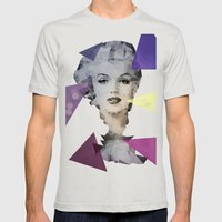 Marilyn Mens Fitted Tee Silver SMALL