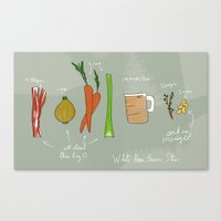 White Bean Bacon Stew Canvas Print