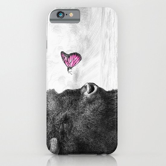 Bison and Butterfly iPhone & iPod Case