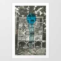 Shot Down Art Print