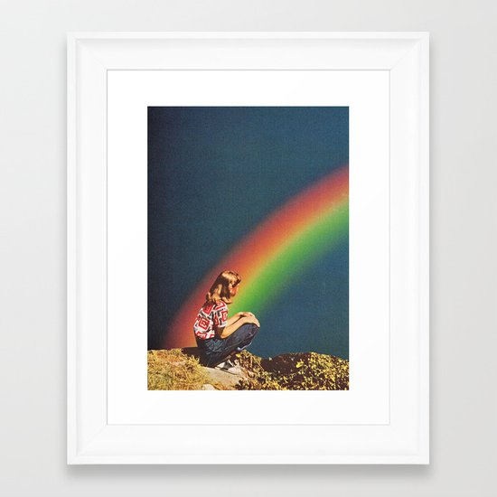 NIGHT RAINBOW Framed Art Print