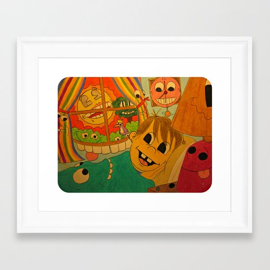 """""""Just Another Day Closer to Death"""" Framed Art Print"""