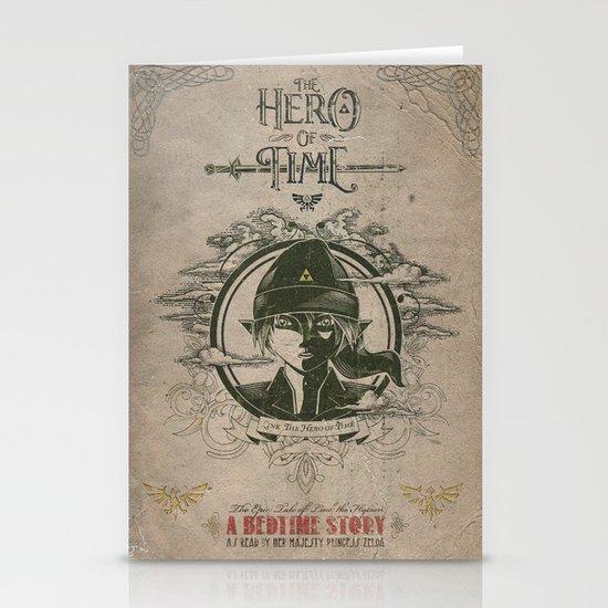 Legend of Zelda Link the Hero of Time Vintage Book Cover Stationery Card