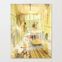 Memories from Lisbon Canvas Print