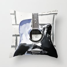 Be Your Song and Rock On in White II Throw Pillow