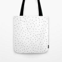 Sporadic Lines Tote Bag