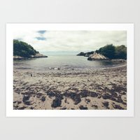 wes anderson Art Prints featuring Moonrise Kingdom Beach - Wes Anderson by Thais Marchese