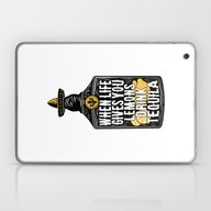 Laptop & iPad Skin featuring When Life Gives You Lemo… by Word Quirk