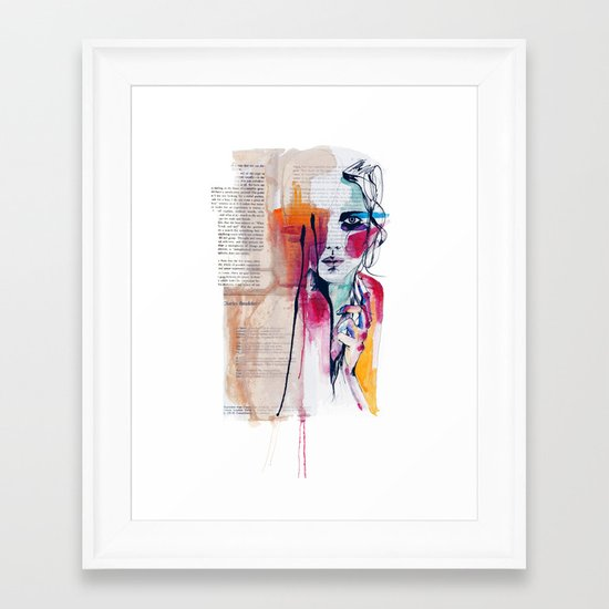 Sense V Framed Art Print