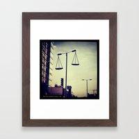 Street Light Scales Framed Art Print