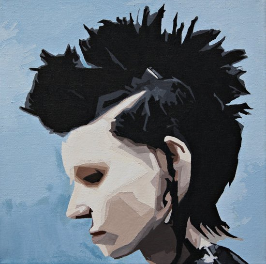 The Girl with the Dragon Tattoo. Art Print