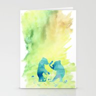 Playing Bear Kids I Stationery Cards