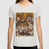 The Big Lebowski Womens Fitted Tee Silver SMALL