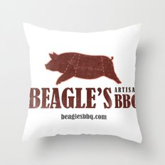 Beagle's BBQ Throw Pillow