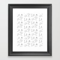 Neighborhood Framed Art Print