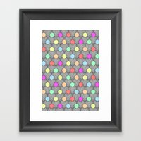 Careless Woman Pattern V2 Framed Art Print