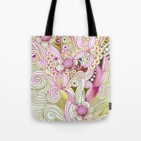 Flower Fire | Yellow, Pu… Tote Bag