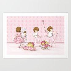 I believe in Pink ~ Audrey Hepburn Art Print