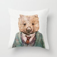 Wombat Throw Pillow