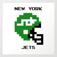 Old School New York Jets Art Print
