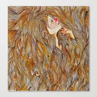 Hair Drowning  Canvas Print