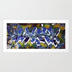 Edinburgh Graffiti Art Print