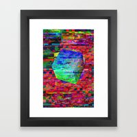 Glitch Cubed No.2 Framed Art Print