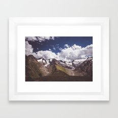 The mighty glaciers Framed Art Print