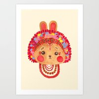 The Flower Crown Bunny Art Print