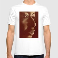 Mama Africa- Brown Mens Fitted Tee White SMALL