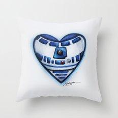 R2D2 Star Wars Heart Throw Pillow