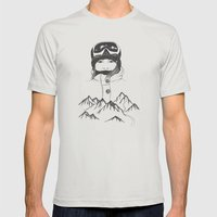 Mountain Girl Mens Fitted Tee Silver SMALL