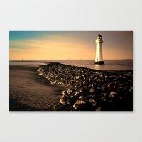 New Brighton Sunset Canvas Print