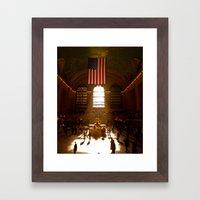 Grand Central Morning Rays Framed Art Print