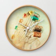 Head Over Heels carnival ferris wheel circus summer Wall Clock