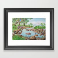 A Day of Forest(7). (the river ecosystem) Framed Art Print