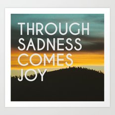 Sadness and Joy Art Print