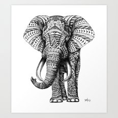 Ornate Elephant Art Print