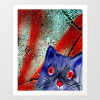 Gordon The Graffiti Cat Art Print