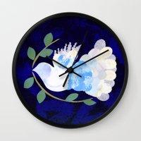 Peace Spirit Dove Wall Clock