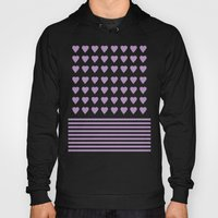 Heart Stripes Orchid Hoody