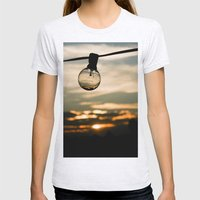 Unlit Sunset.  Womens Fitted Tee Ash Grey SMALL