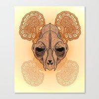 War mask Canvas Print