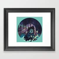 Snail Witch Framed Art Print